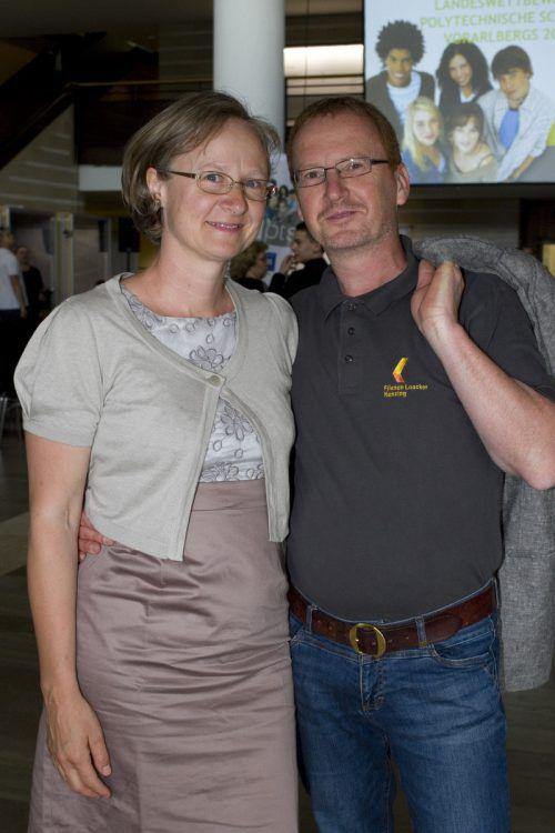 Sichtlich stolze Eltern: Petra und Günther Loacker.