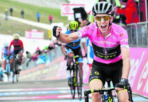Sieg auf der Bergetappe am Gran Sasso, Simon Yates dominiert den Giro. ap