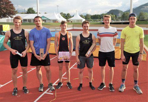 Sieger Daniel Bertschler, Konstantin Beiser, Mika Voss, Mike Sgarz, Niklas Voss und Manuel Noggler. Sportgemeinschaft Götzis
