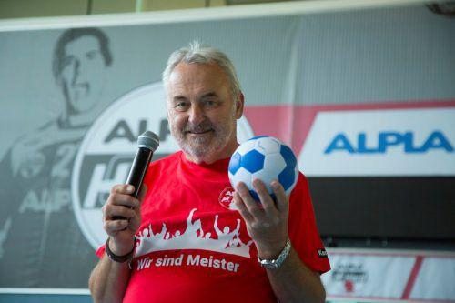 Siegi Drechsel ist ein Urgestein der Harder Handballfamilie. VN/Paulitsch