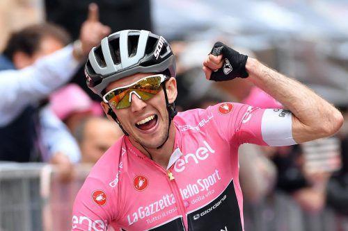Simon Yates wurde Tagessieger und ist Gesamtleader beim Giro.afp