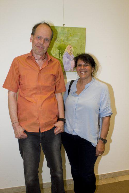 Unter den Gästen: Robert Gisinger und Elisabeth Fischnaller.