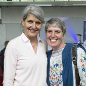 """<p class=""""caption"""">Ursula Fleisch (l.) und Angelika Kühne (HAK Lustenau).</p>"""