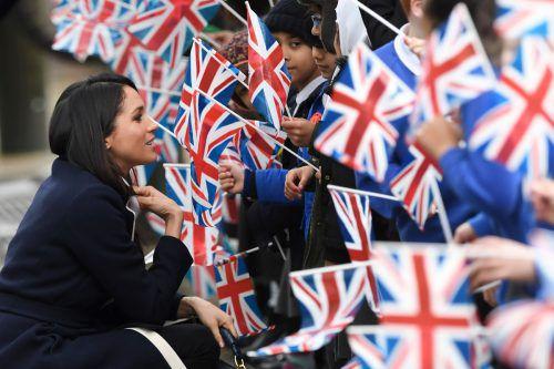 US-Amerikanerin, geschieden und bürgerlich – Meghan Markle entspricht nicht der typischen royalen Schwiegertochter, trotzdem hat sie viele britische Fans.AFP