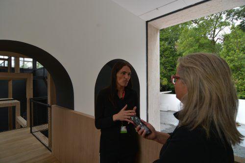 Verena Konrad, Leiterin des Vorarlberger Architektur Instituts, als Kommissärin des Österreich-Auftritts in Venedig im Gespräch mit den VN im Austria-Pavillon.