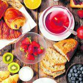 Pünktlich und frisch:Das Frühstück ist da!