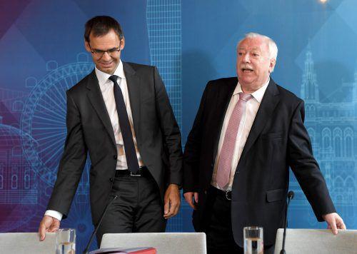 Vorarlbergs Landeshauptmann Wallner und Wiens scheidender Bürgermeister Häupl sind mit den Ergebnissen der Landeshauptleutekonferenz zufrieden.APA