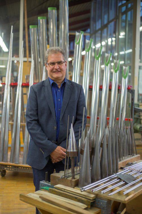 Wendelin Eberle ist Vorarlberger KMU-Unternehmer des Jahres.VN/Paulitsch