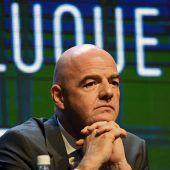 Zurückhaltung beim FIFA-Chef