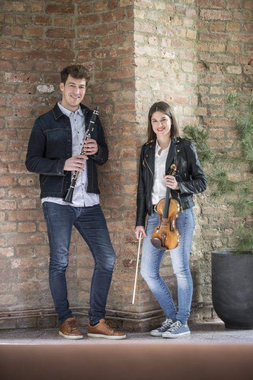 Alex Ladstätter und Natalia Sagmeister spielen unter anderem auch in großen Orchestern und an der Wiener Staatsoper. Petra Rainer