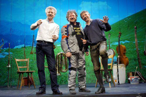 Als Biermösl Blosn haben die Well-Brüder jahrzehntelang die Auftritte von Gerhard Polt musikalisch begleitet.well-brüder