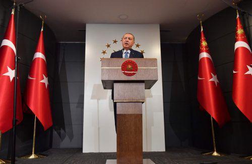 Amtsinhaber Erdogan triumphierte bei der Präsidentschaftswahl. AFP