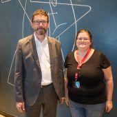 <p>Andreas Neuhauser (Illwerke VKW) und Petra Müller (AK).</p>