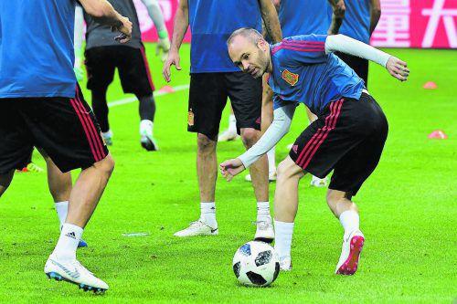 Andres Iniesta strebt bei seinem letzten WM-Turnier nach Großem. apa