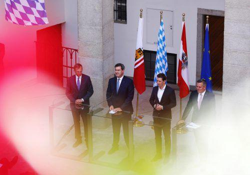 Auch der gemeinsame Ministerrat von Österreich und Bayern in Linz stand ganz im Zeichen der Flüchtlingsthematik. AFP