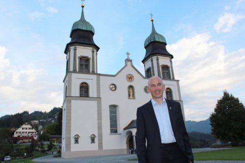 """Auch Pfarrer Paul Burtscher freut sich auf die """"Messias""""-Aufführung. nam"""