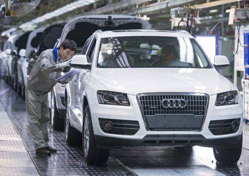Audi fertigt in China mit zwei lokalen Kooperationspartnern Autos. 280 Mitarbeiter sind mit Zukunftsthemen beschäftigt.werk