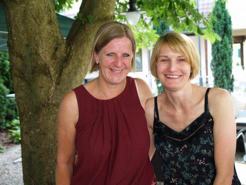 Begeistert: Annette Meyer (l.) und Bettina Nick (Skribo).