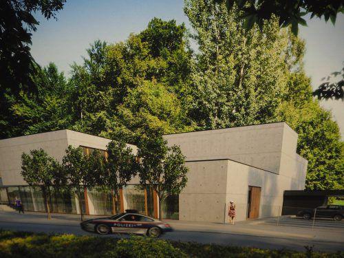 So wird sich das Einsatztrainingszentrum, dessen Planung vom Dornbirner Architekt Gerald Amann durchgeführt wurde, nach seiner Fertigstellung präsentieren. renderin