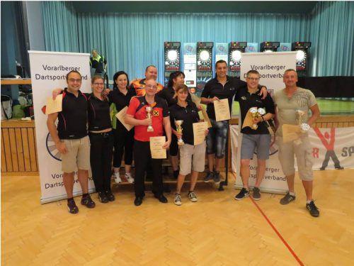 Beim Dart Club Hohenems freut man sich über die Erfolge bei der Landesmeisterschaft und in der Liga. mima