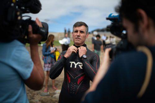 """Benoit """"Ben"""" Lecomte startete am Dienstag seinen Weltrekordversuch. afp"""