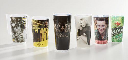 Bestseller von Cup Concept sind die speziell für Veranstaltungen gebrandeten Mehrwegbecher. Fries