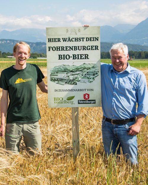 Sieben Vorarlberger Bio-Austria-Betriebe bauten im Vorjahr für die Brauerei Fohrenburg acht Hektar Biobraugetreide an.