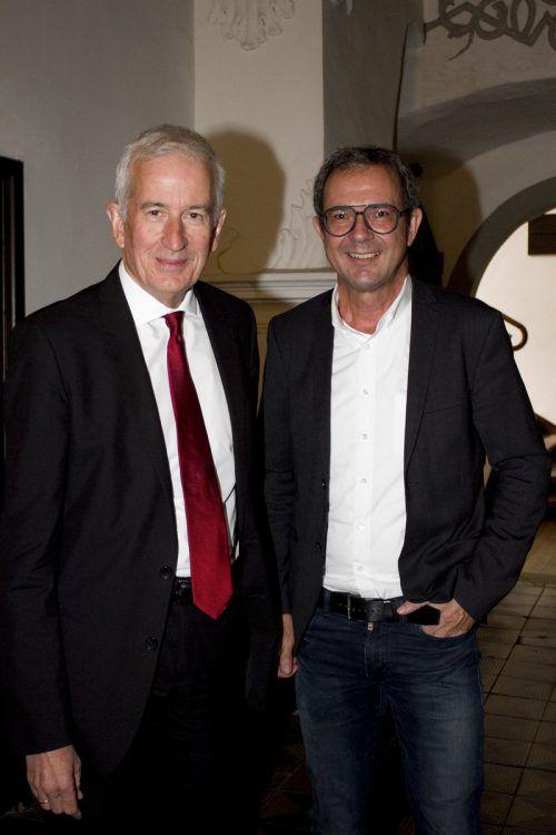 Bürgermeister Wilfried Berchtold (l.) und Prisma-Chef Bernhard Ölz.