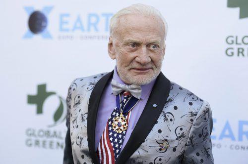 Buzz Aldrin und Neil Armstrong waren 1969 die ersten Menschen auf dem Mond. AP