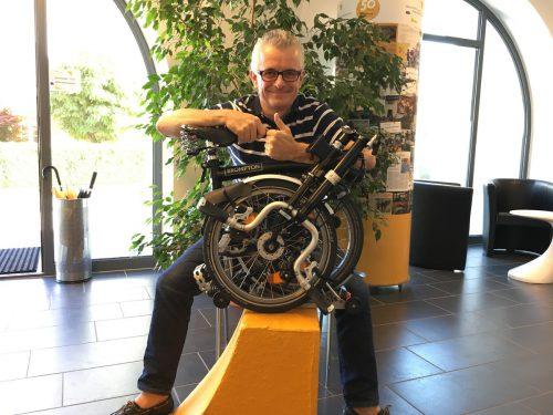 Das Faltrad würde Thomas Nussbaumer gegen nichts anderes eintauschen. lh