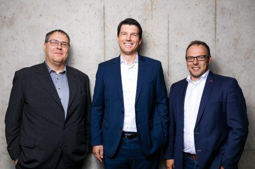 Das neue Managementteam der Hohenemser Collini Gruppe (v. l.): Günther Reis, Peter Puschkarski und Martin Netzer. Collini/Weissengruber Partner