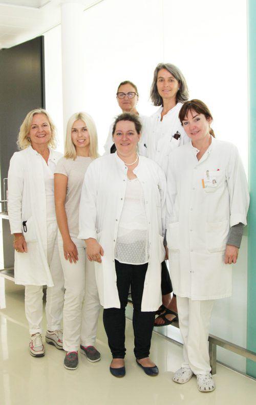 Das Team des zytologischen Labors arbeitet täglich für die Frauengesundheit.