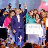 Konservativer Duque triumphiert