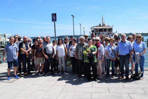 Der Ausflug des Krippenvereins Götzis führte in diesem Jahr 32 Krippenfreunde zu den Inseln im Chiemsee. Verein/Pröll