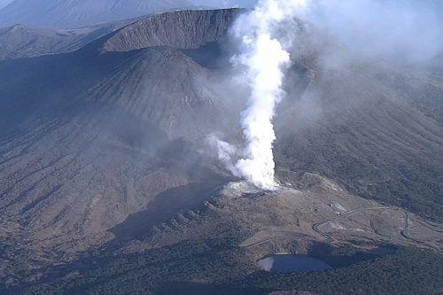 Der Vulkan Shinmoe kommt nicht zur Ruhe. AFP