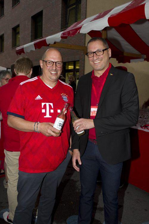 Didi Eisenhofer (Freihof Spirituosen) und Stefan Rosshäupter (AGM).