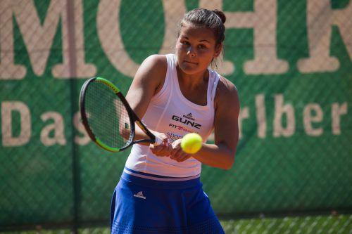 Emily Meyer steht bei der Staatsmeisterschaft im Doppel im Halb- und im Einzel im Viertelfinale. steurer