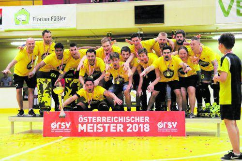 Die Cracks des RHC Dornbirn holten sich zum 15. Mal seit 2000 die nationale Krone in der Rollhockey-Bundesliga.Verein