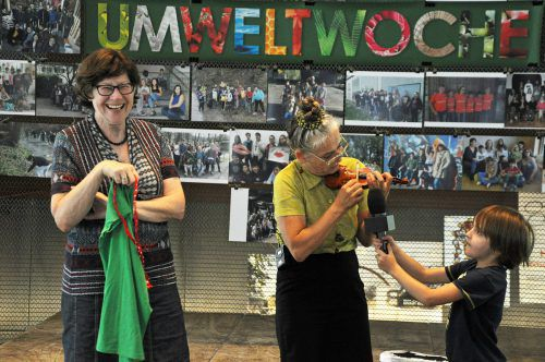 Die Initiatorin der Umweltwoche, Ingrid Benedikt, freute sich.