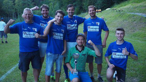 Die Kicker des FC Viktorsberg gingen am Ende wenig überraschend als Turniersieger vom Platz. Christof Egle
