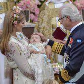 Ganz ohne Tränen: Schwedische Prinzessin Adrienne getauft
