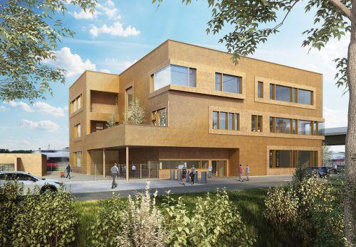 Die Pläne für die neue ÖBB-Lehrwerkstätte sehen einen dreigeschossigen Bau an der Mokrystraße vor. Koll