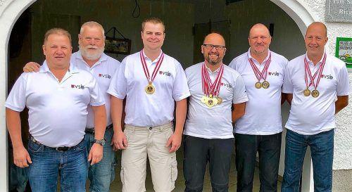 Die VSB-Equipe (v. l.): Josef Fetz, Günter Linder, Steffen Schmidinger, Andreas Gassner, Jürgen Schneider und Gert Loacker-Schöch.Verband