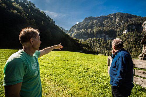 Die Wälderhalle soll in der sogenannten Sporenegg-Kurve neben der Mülldeponie in Andelsbuch entstehen. VN/Steurer
