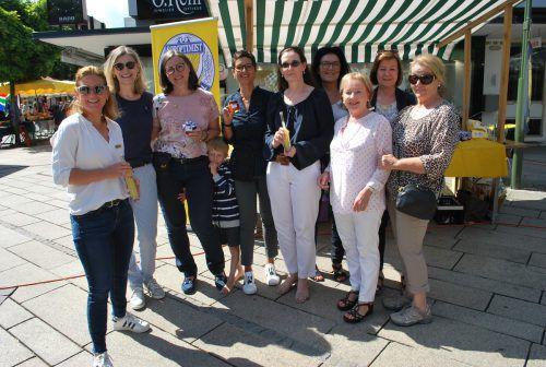 Diesmal auf dem Markt: Frauen des Soroptimist Club Dornbirn. erh