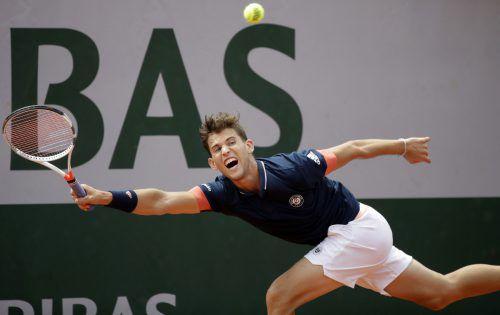 Dominic Thiem ist zum siebten Mal in Folge und zum insgesamt neunten Mal in die Runde der letzten 16 eines Grand-Slam-Turniers eingezogen.GEPA