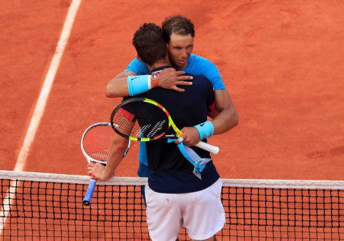 Dominic Thiem wehrte sich nach Kräften, musste aber am Ende Rafael Nadal zum elften Titel auf Pariser Sand gratulieren. apa