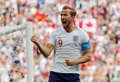 """Drei Treffer in einem WM-Spiel für England – das gelang vor Harry Kane nur den Legenden Gary Lineker und Geoff Hurst. Nun beginnen die """"Three Lions"""" vom WM-Titel zu träumen. reuters"""