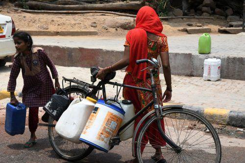 Drei Viertel der Haushalte haben keinen eigenen Zugang zu Trinkwasser. AFP