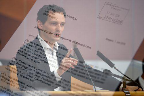 Duale Ausbildung ist für den Abgeordneten Julian Fässler (VP) der einzig richtige Weg gegen den Fachkräftemangel. VN/Lerch